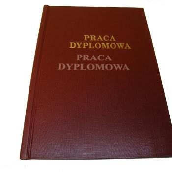 Grawerowanie okładki pracy dyplomowej